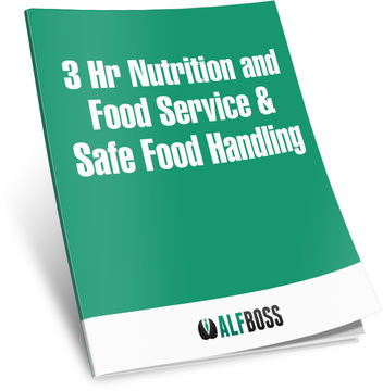 3Hr Nutrition and food service & Safe Food Handling