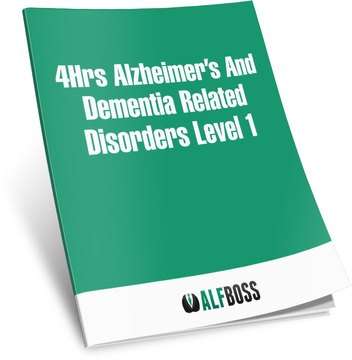 4Hrs Alzheimer's and dementia related disorders Level 1